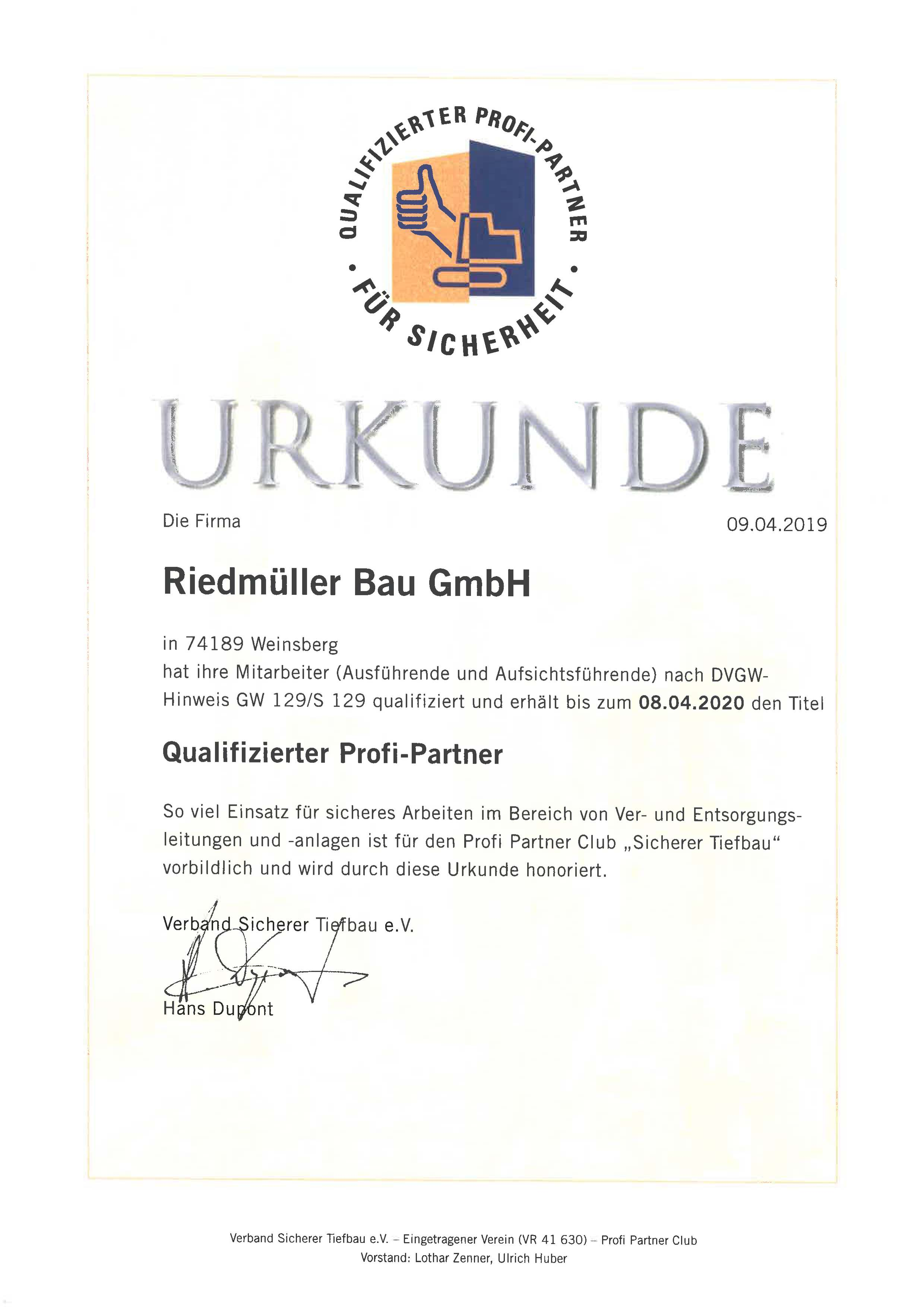 Urkunden ProfiPartner